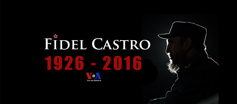 Voice of America (VOA) produced graphic to illustrate reports on Fidel Castro's death.